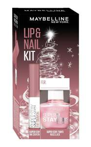 Maybelline New York X-Mas Set Super Stay Ink Crayon Nr. 15 + Super Stay 7 Days Nr. 1 Nagellack