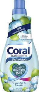Coral Colorwaschmittel Wasserlilie & Limette, 22 WL