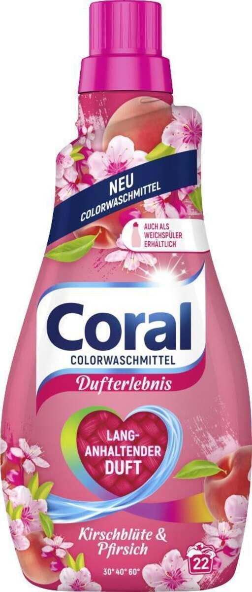 Bild 1 von Coral Colorwaschmittel Kirschblüte & Pfirsich, 22 WL