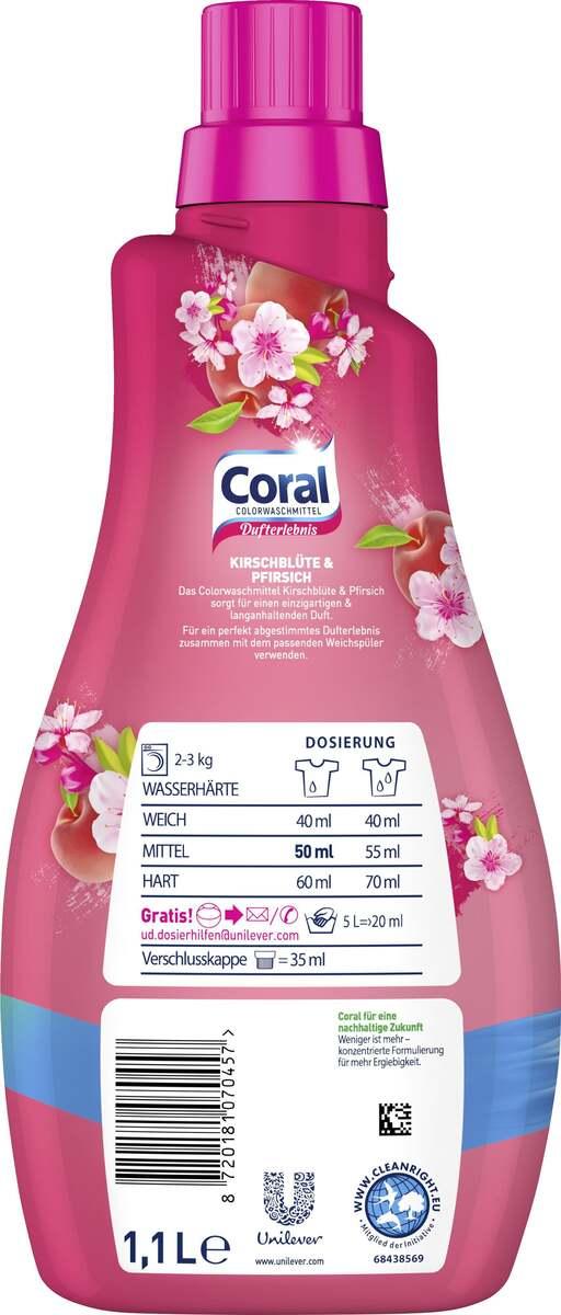Bild 2 von Coral Colorwaschmittel Kirschblüte & Pfirsich, 22 WL