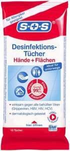 SOS Desinfektions-Tücher für Hände + Flächen