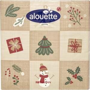alouette Serviette 9 Weihnachtsmotive