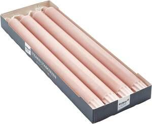 Rubin Licht Premium Stabkerzen altrosa/pink 4er-Pack