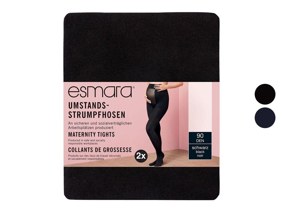 Bild 1 von ESMARA® Umstand-Feinstrumpfhose Damen, 2 Stück