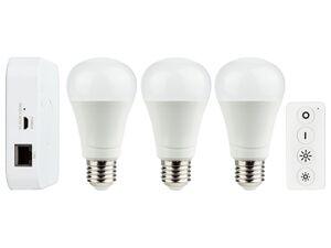 LIVARNO LUX® Starter Kit Gateway, 9,5 Watt, mit Lichtfarbensteuerung, Sprachsteuerung