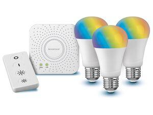 LIVARNO LUX® Starter Kit Gateway, 9,5 Watt, mit Sprachsteuerung, Fernbedienung