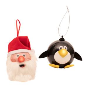 LIVING ART     Lustige weihnachtliche Tieranhänger mit LED