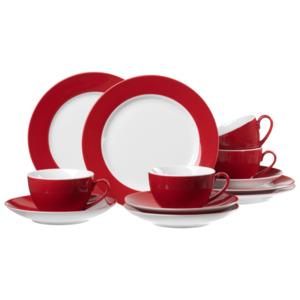 Ritzenhoff & Breker Doppio Kaffeeservice Rot 12-teilig
