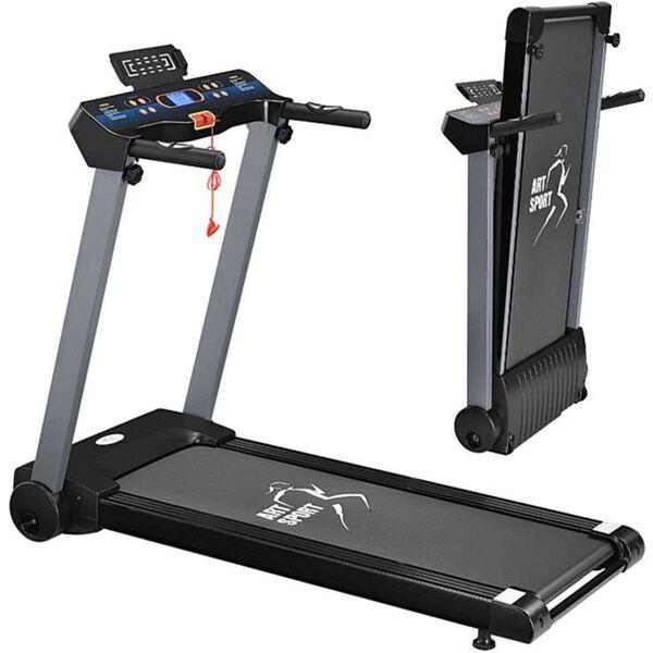ArtSport Laufband Speedrunner 2500 klappbar Fitnessgerät Trainingsgerät inkl. 12 Programmen, LCD