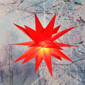 Dekor LED 3D Stern Sortiment, 2er Set Sterne rot