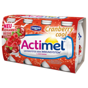Danone Actimel® Johannisbeere & Cranberry, Cranberry cool 8 x 100g = 800g