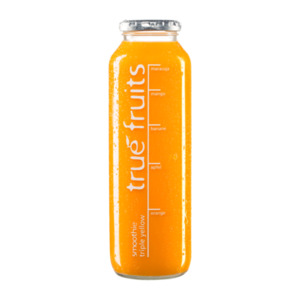 true fruits Smoothie yellow