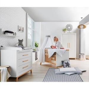 home24 Schardt Drehtürenschrank Miami White Buche Natur/Weiß Melamin Dekor 108x194x53 cm (BxHxT) 2-türig