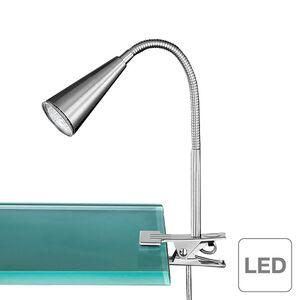 home24 Action LED Klemmspot Arcos Modern Silber Metall GU10 Rund 40 cm Höhe