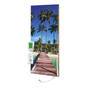 Infrarot-Heizpaneel Beach Palms mit Thermostat