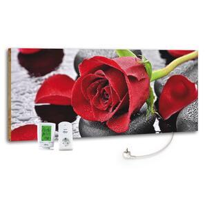 Infrarot-Heizpaneel Red Rose mit Themostat