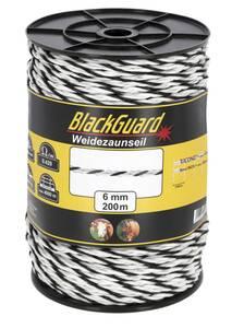 Weidezaunseil, 200 m x 6 mm BlackGuard