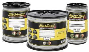 Weidezaunband, weiß/schwarz - verschiedene Ausführungen BlackGuard