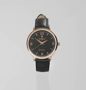 Edles Herren und Damen Uhrenset in Rosegold Optik mit Echtleder-Armband Retox