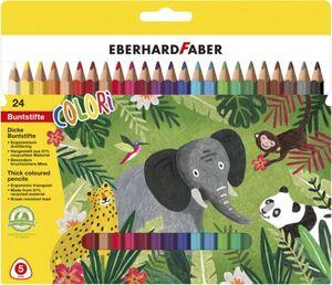 Eberhard Faber - 24 Buntstifte - Jumbo Colori