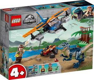 LEGO® Jurassic World™ 75942 - Velociraptor: Rettungsmission mit dem Doppeldecker