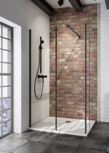 Schulte Duschwand Walk In Loft Black Style Alexa Style 2.0 2-teilig ,  120 x 200 cm, inkl. Spritzschutz, inkl. fixil-Beschichtung