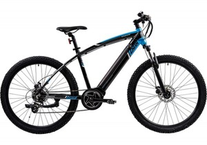 Zündapp E-Bike E-Mountainbike Z808 ,  27,5 Zoll, 7-Gang, schwarz/blau