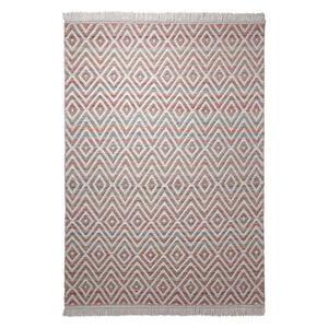 Esprit Handwebteppich 60/110 cm rot, weiß , Vector , Textil , Abstraktes , 60x110 cm , für Fußbodenheizung geeignet, in verschiedenen Größen erhältlich , 007606029152