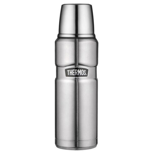 Alfi Isolierflasche 0,47 l , 4003.205.047 , Edelstahlfarben , Metall , matt , doppelwandig, schlag- und bruchfest, lebensmittelecht, Vakuum, 100% dicht, abnehmbarer Deckel, Schraubverschluss, hält w