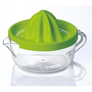 Emsa Zitronenpresse , 507357 , Grün, Transparent , Kunststoff , 0,4 L , abnehmbarer Deckel, Saftbehälter , 0032620252