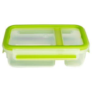 Emsa Clipbox 0,8 l , 518103 , Grün, Transparent , Kunststoff , lebensmittelecht, luftdichter Verschluss, auslaufsicher, hitzebeständig, mikrowellengeeignet, stapelbar, Deckel mit Sichtfenster , 003