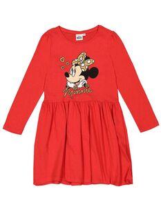 Mädchen Kleid mit Minnie Mouse-Print