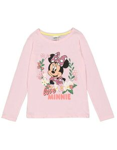 Mädchen Langarmshirt mit Minnie Mouse-Print