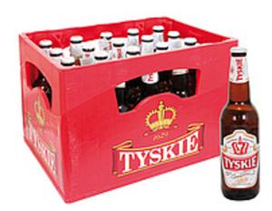 """Bier """"Tyskie Gronie"""" hell 5,5% vol. 20 x 500ml"""
