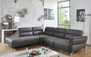 MCA furniture - Wohnlandschaft Paul in grau, mit Funktionen