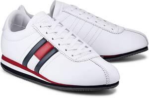 Tommy Jeans, Sneaker Retro Flag in weiß, Sneaker für Damen
