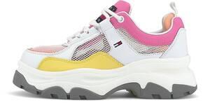 Tommy Jeans, Sneaker Recycled Mesh Flatform in weiß, Schnürschuhe für Damen