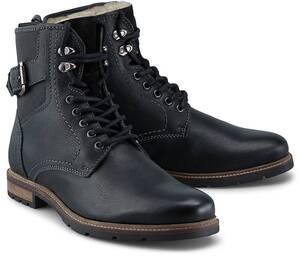 COX, Schnür-Boots in schwarz, Stiefel für Herren
