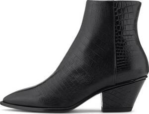 AGL, Kroko-Stiefelette in schwarz, Stiefeletten für Damen