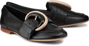 AGL, Luxus-Slipper in schwarz, Slipper für Damen