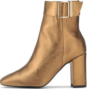Tommy Hilfiger, Glam-Stiefelette Metallic Square in gold, Stiefeletten für Damen