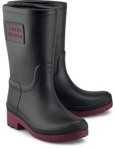 Tommy Hilfiger, Gummistiefel Warmlined Rainboot in schwarz, Gummistiefel für Damen