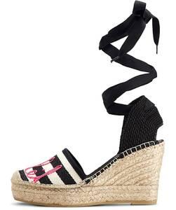 Vidorreta, Keil-Sandalette in schwarz, Sandalen für Damen