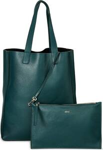 Abro, Shopper Dalia in dunkelgrün, Shopper für Damen