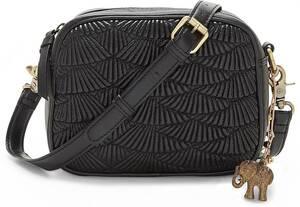 Anokhi, Umhängetasche Threadfilling Crossbody in schwarz, Umhängetaschen für Damen