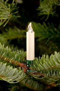 """Krinner Lumix Weihnachtsbaumkerzen Classic mini """"Basisset, 12 LED Kerzen, elfenbein"""""""
