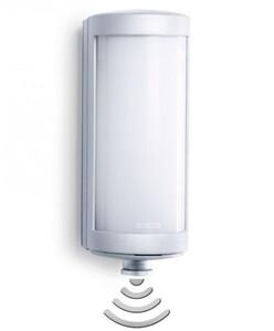 Steinel LED Außenleuchte L 626 mit Bewegungsmelder, silber