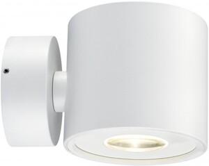 Paulmann LED Wandaufbauleuchte Special Line BigFlame rund, weiß matt, 1x5 W