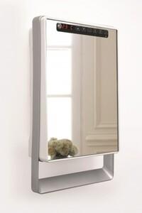 Rowi Bad-Schnellheizer HBS/1800/3/1 HB Premium+ mit Spiegel und Handtuchhalter, 1800 Watt