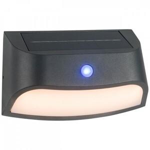 AEG LED Solar-Außenwandleuchte Payton Dämmerungssensor, anthrazit